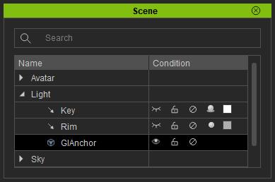 Character Creator Online Manual - GI Anchor Settings
