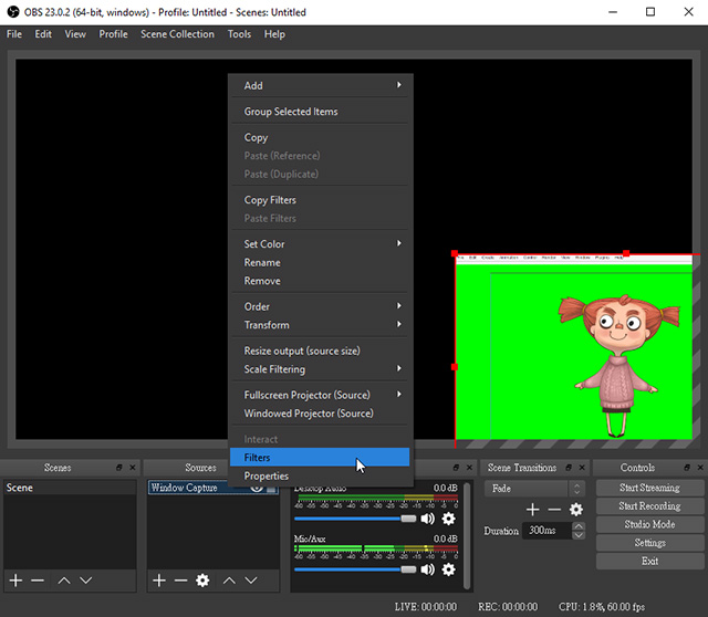 Motion LIVE 2D Plugin Online Manual - Using OBS to Live