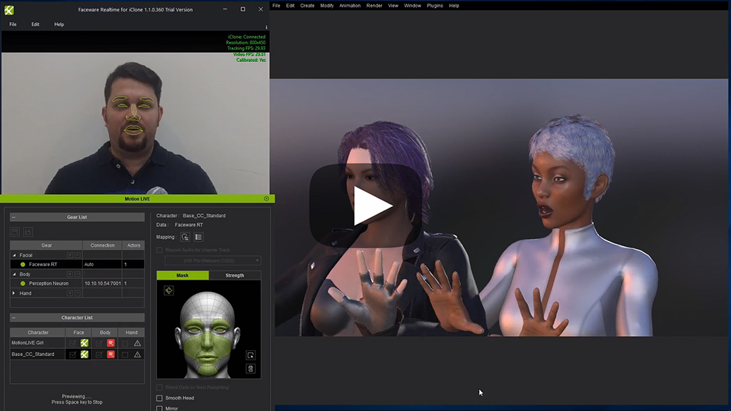 iClone Motion LIVE Online Manual - Facial Expression Capture