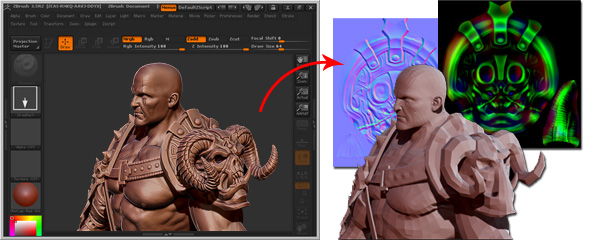 Using Vector Displacement Maps